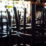 Stools in a closed bar