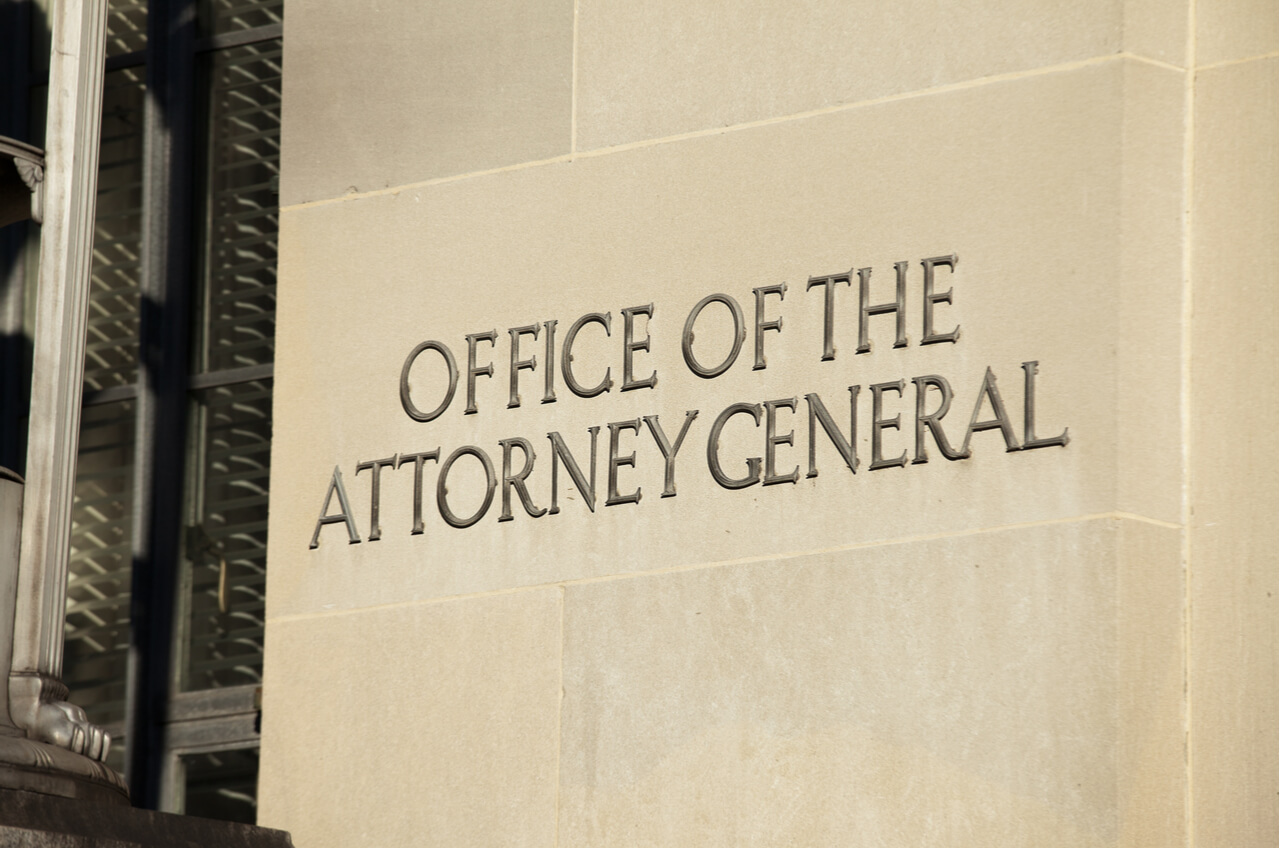 exterior wall of the Attorney General's office