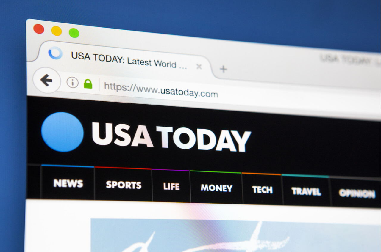USA today website