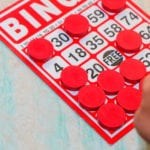 bingo card covered in markers
