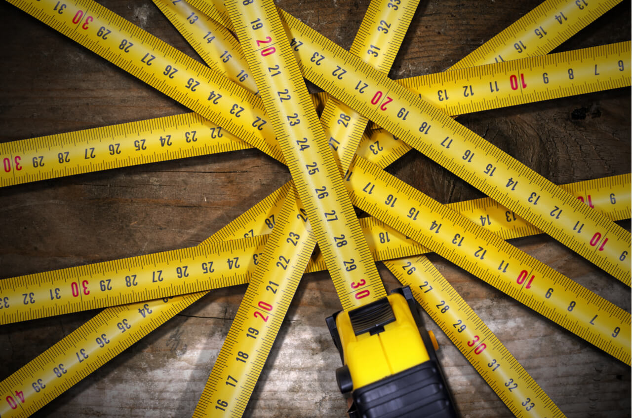 series of measuring tapes