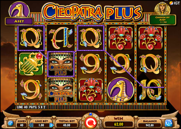 Free to Play Cleopatra slot game
