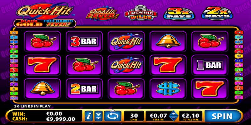 Quick Hit Black Gold Slot Machine Screenshot
