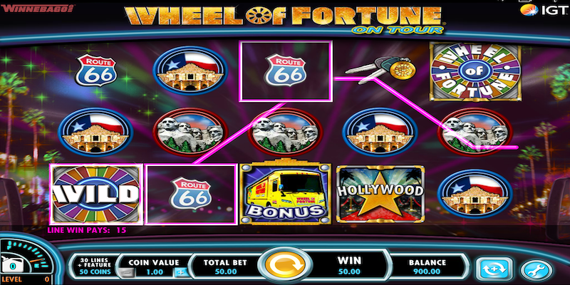 Wheel of Fortune On Tour Slot Game