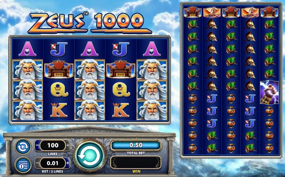 Zeus 1000 slots machine free