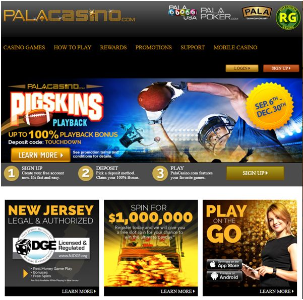 In fact, if the stars align, you could get $1 million for free.However, even if they don't, our Pala Online Casino NJ promo code will unlock a $25 no deposit bonus and up to $ in free credits when you fund your account for the first time.Use our promo code: OVBONUS for $25 free at Pala Online Casino NJ Pala online casino November updates.